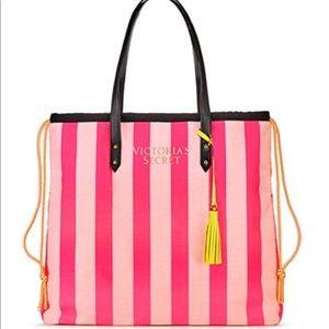 🆕❤️VICTORIA'S SECRET Pink Stripe Tote❤️